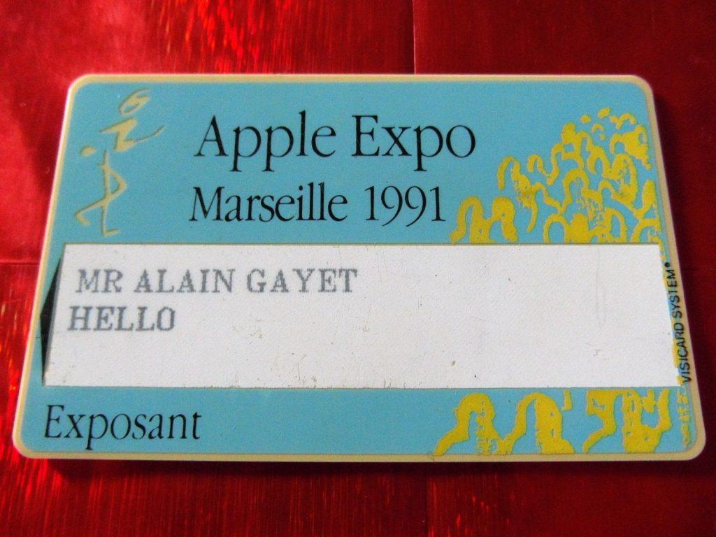 Badge visiteur Apple Expo 1991