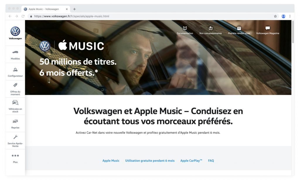 Apple Music and Volkswagen 2019