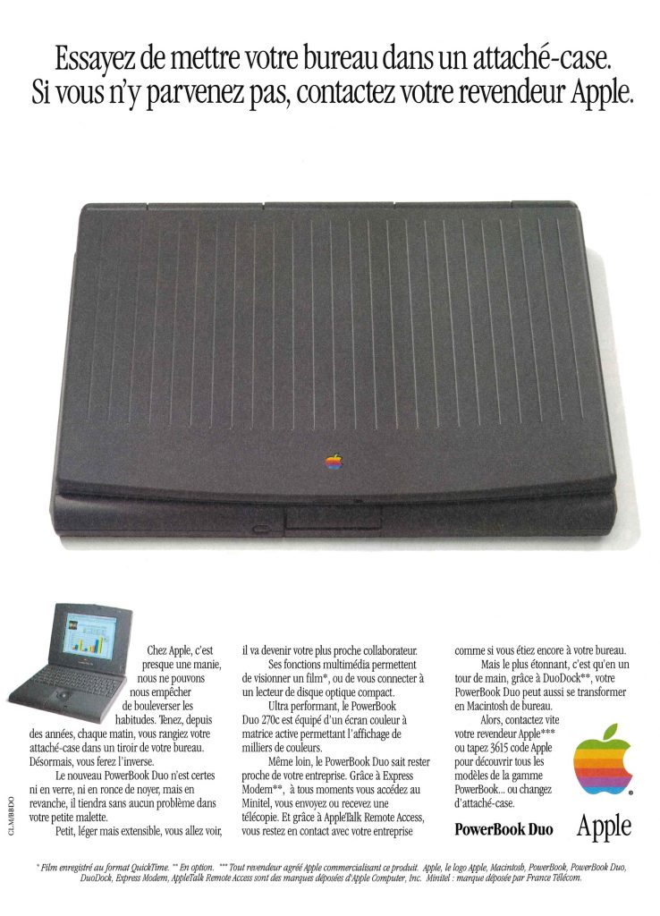 Apple Publicité PowerBook Duo 270c