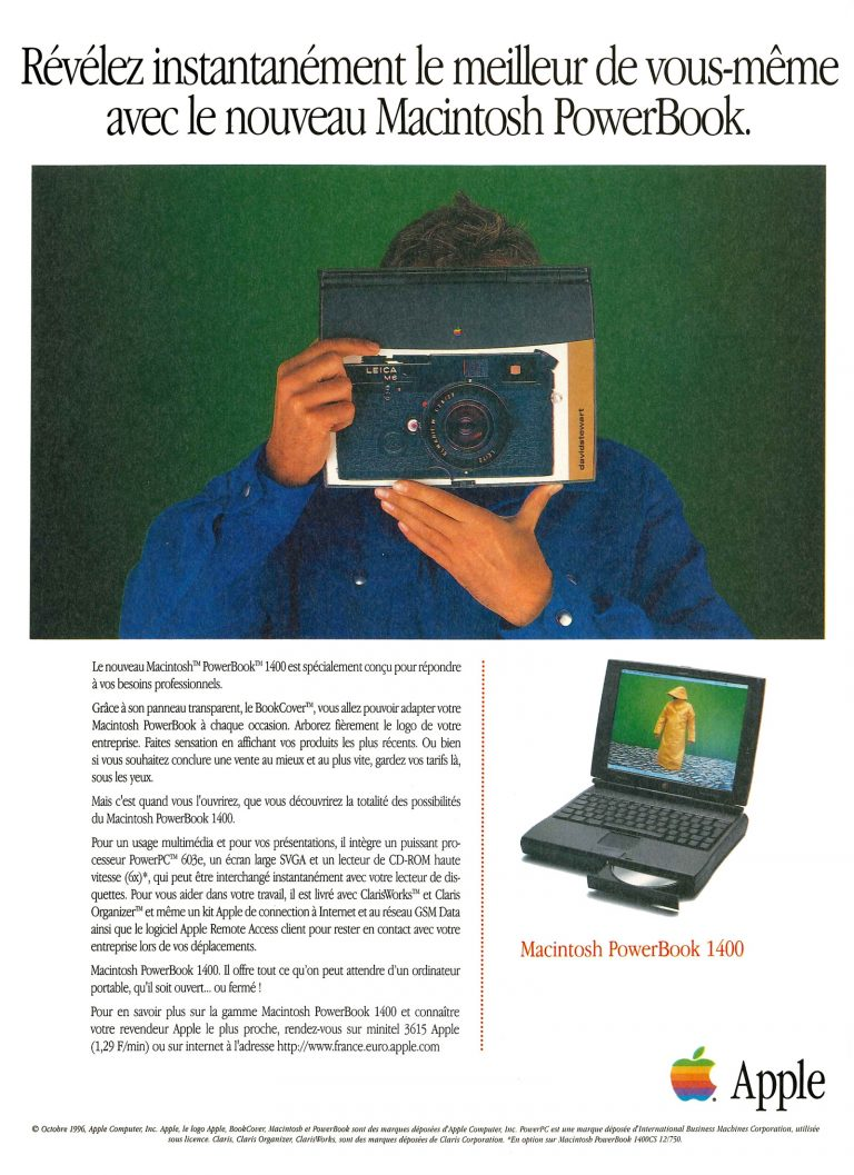 Publicité Apple PowerBook 1400 1996