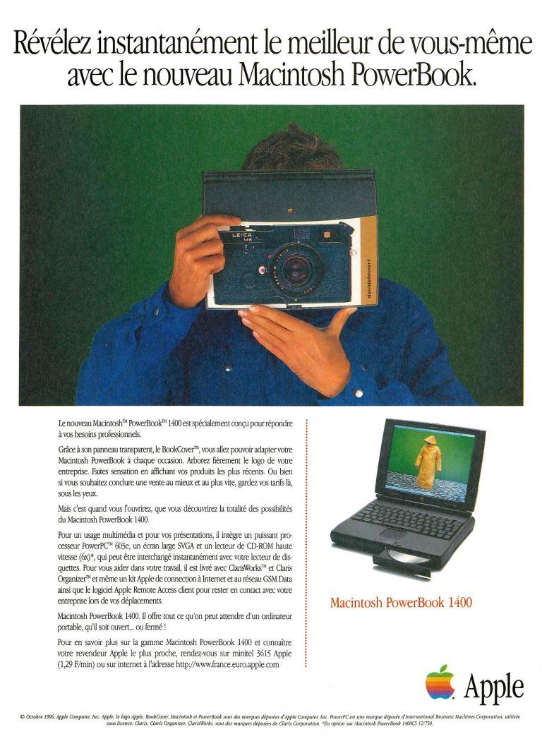 Publicité Apple PowerBook 1400 1996