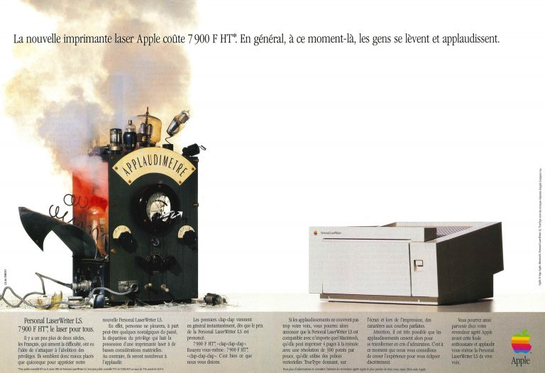 Publicité Apple : LaserWriter LS