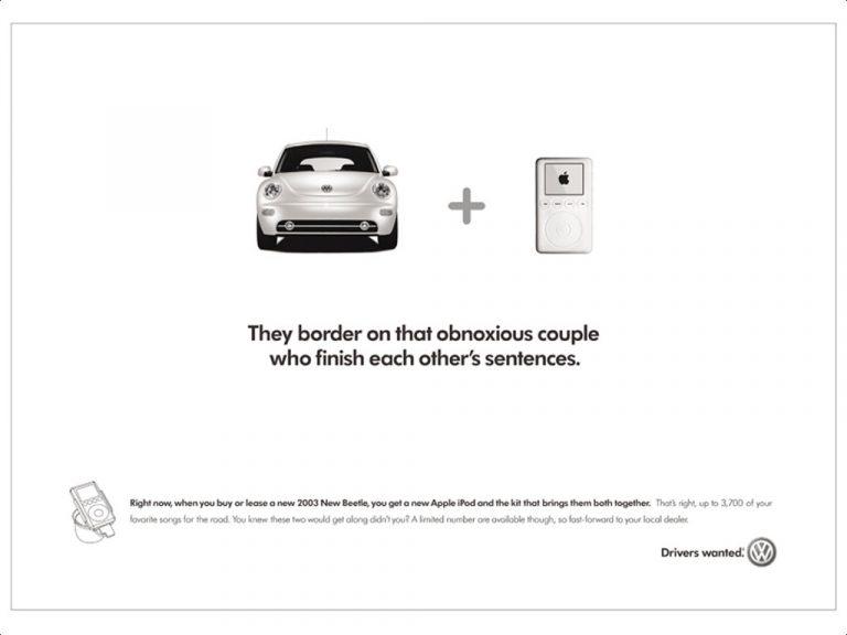 Apple iPod and Volkswagen 2003