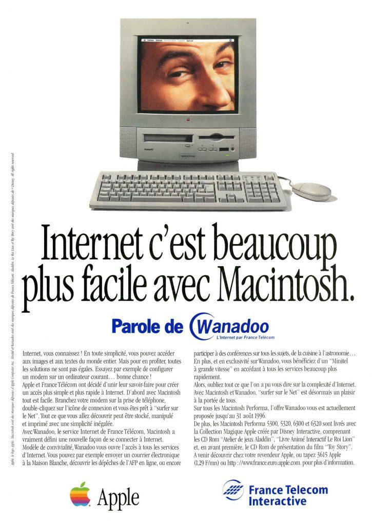 Internet, c'est beaucoup plus facile avec Macintosh - et Wanadoo 1996