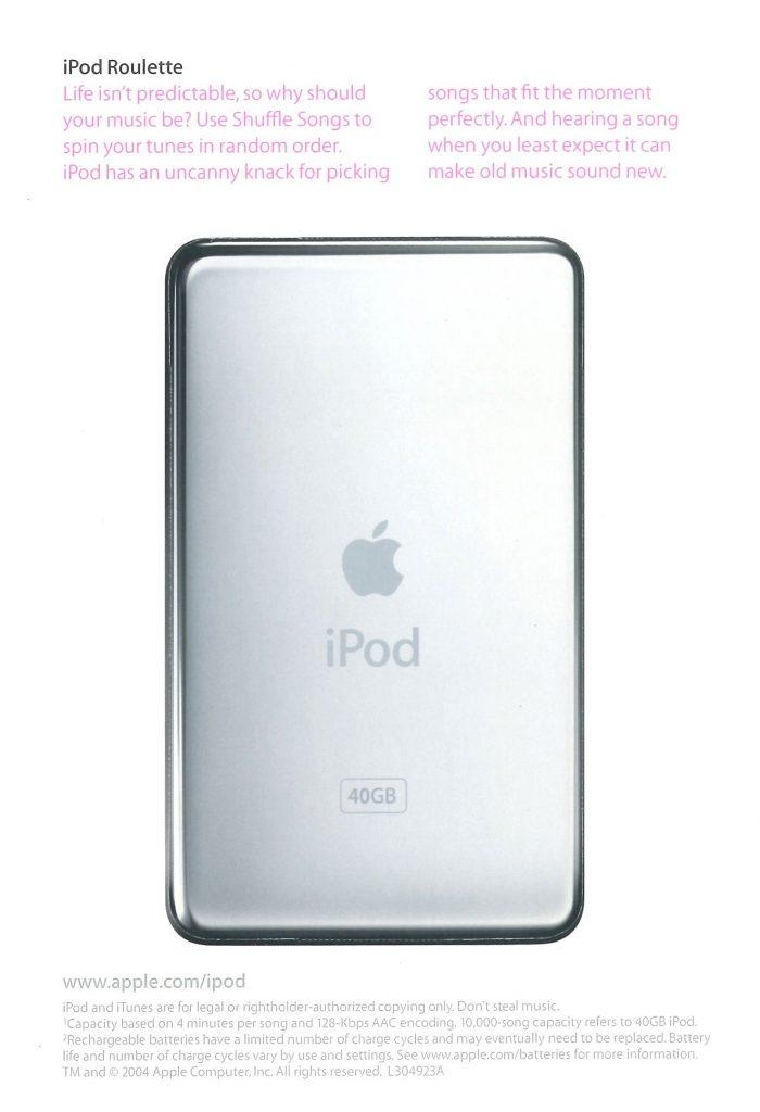 Brochure iPod 4G 2004 Apple