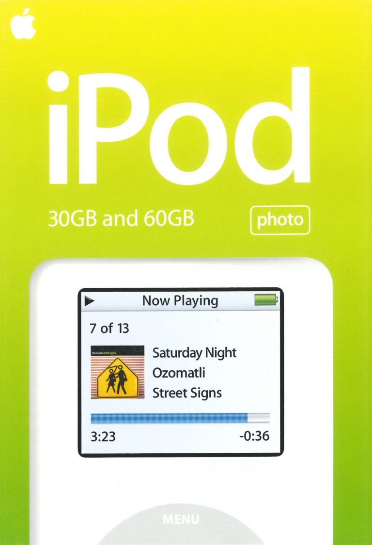 Brochure iPod Photo 4G 2004 Apple