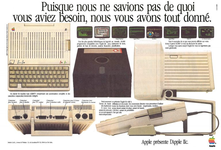 Publicité 1984 Apple IIc (with Lisa Mouse !)