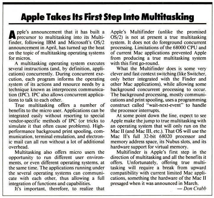 Apple MultiFinder Multitasking
