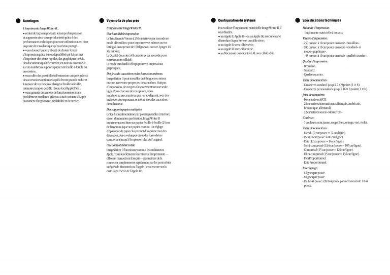 Brochure ImageWriter II