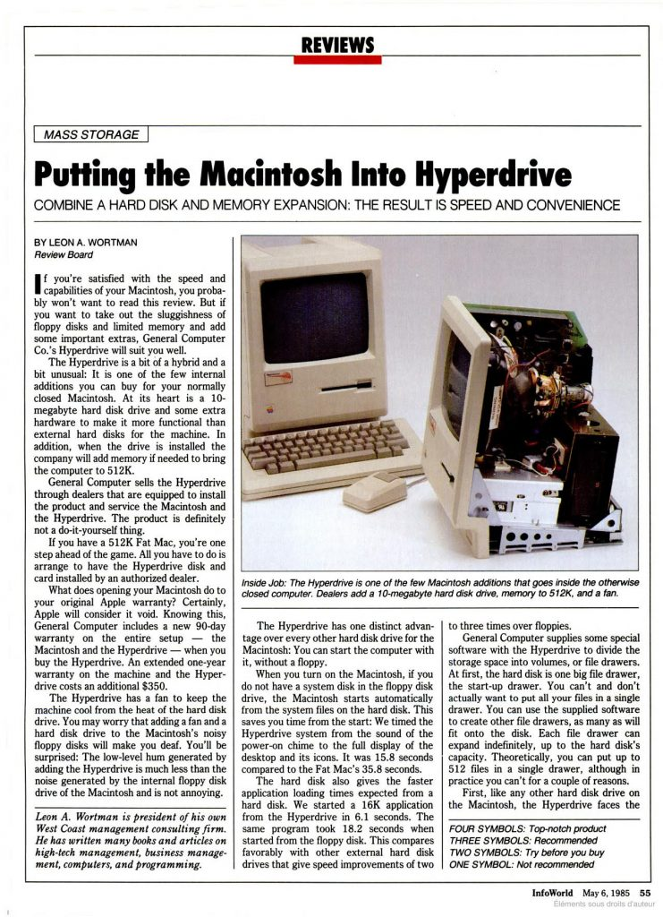 1985 Infoworld Macintosh Hyperdrive