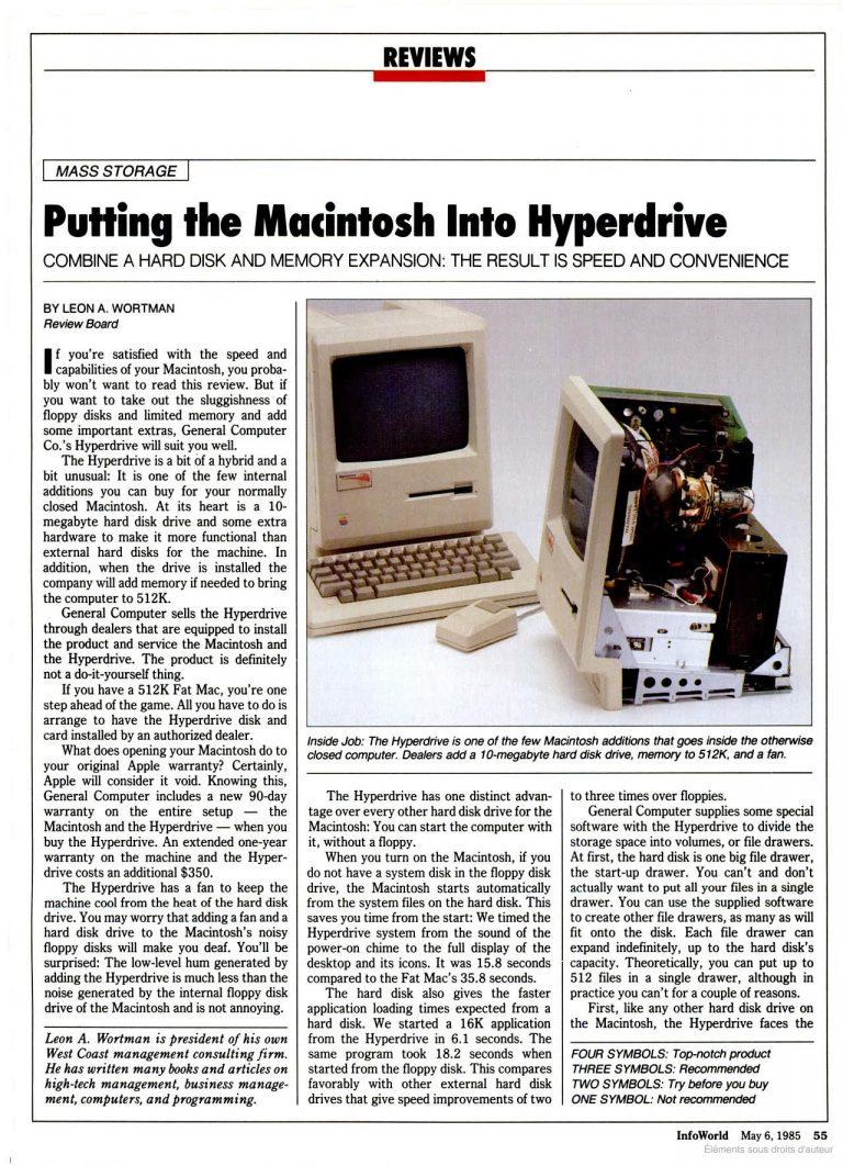 1985 Infoworld Macintosh Hyperdrive