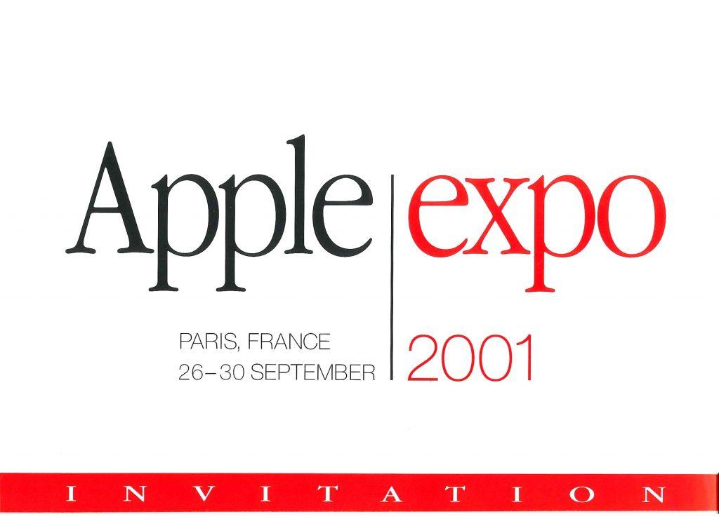 Invitation Apple Expo 2001
