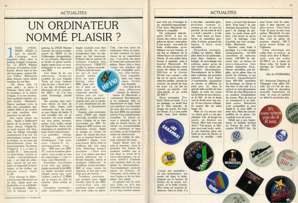 Article février 1984 Macintosh