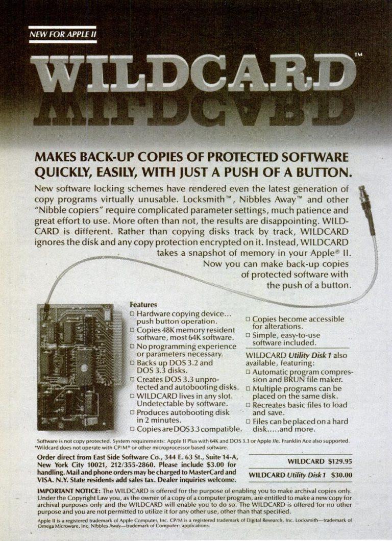 WildCard for Apple II