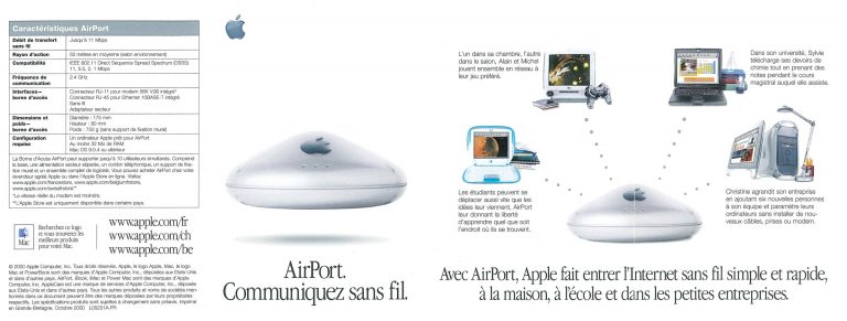 Apple AirPort brochure française 2000