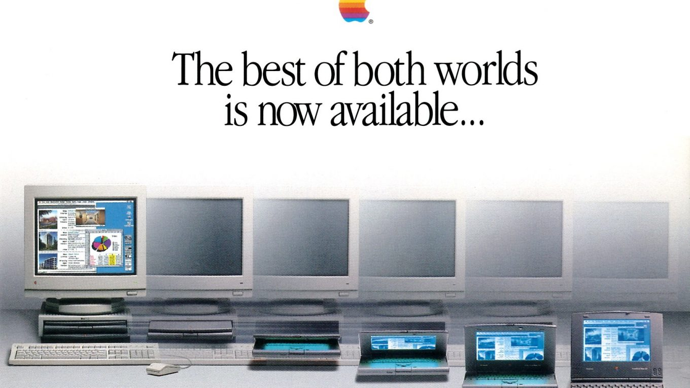 Apple Macintosh PowerBook Duo postcard