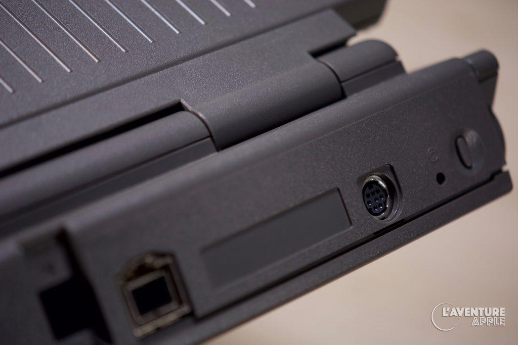 Apple PowerBook 150 back (prises / ports)