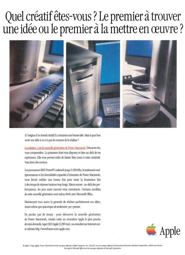 Power Macintosh 9500 ad - quel créatif