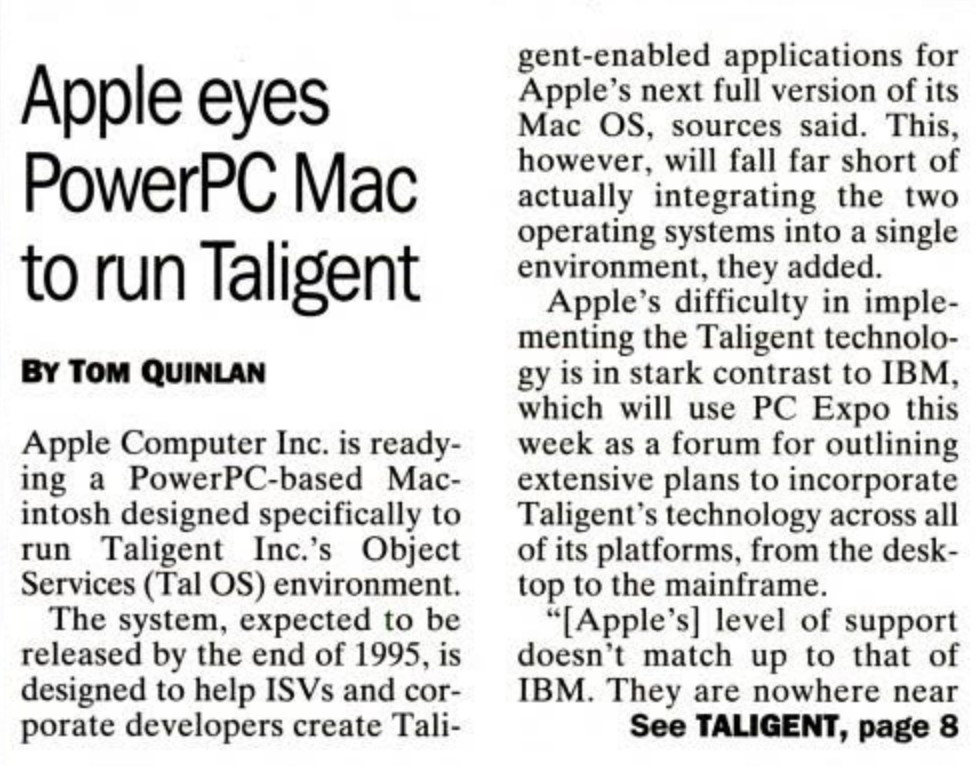 Apple Taligent IBM