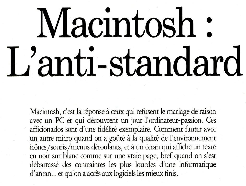 Macintosh anti-standard