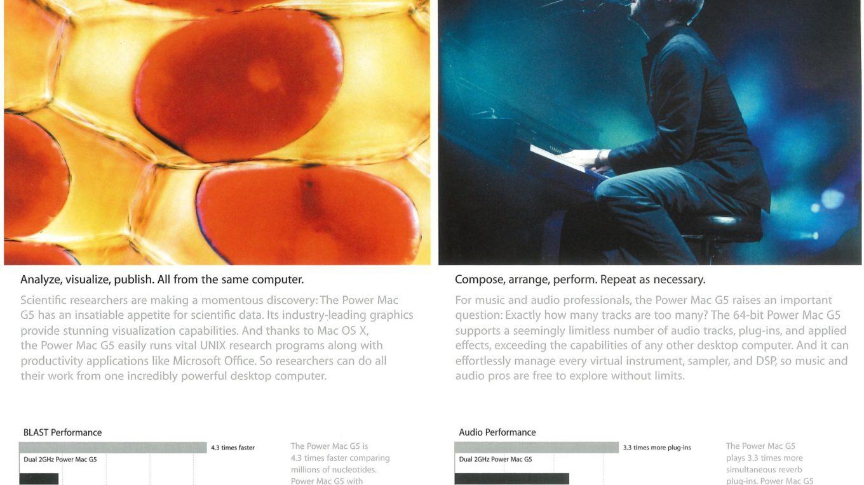 Brochure Power Mac G5 Apple 2003