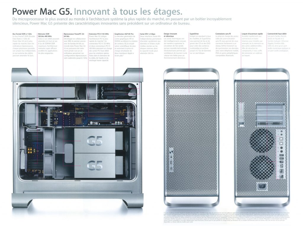 Brochure Power Mac G5 Apple 2003 france
