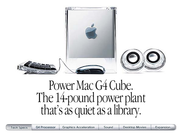 Power Mac G4 cube internet