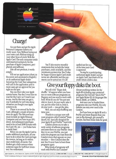 1983 Apple Credit Card