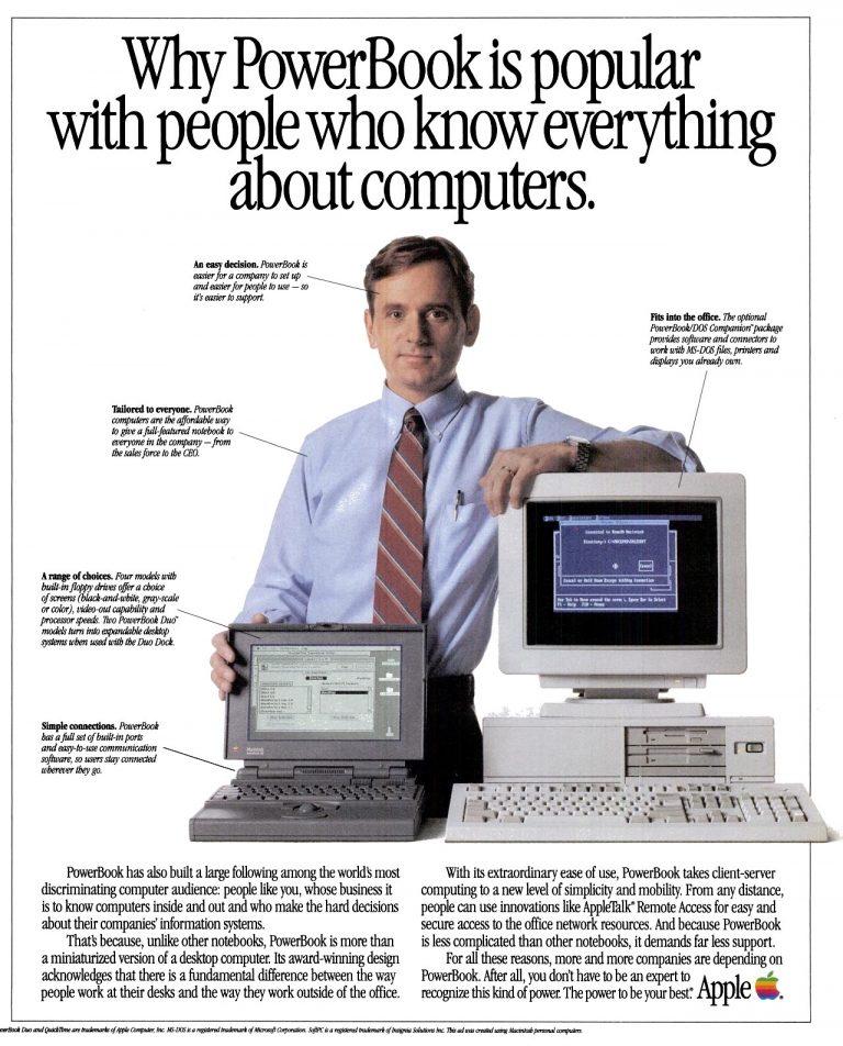 PowerBook Apple Publicité