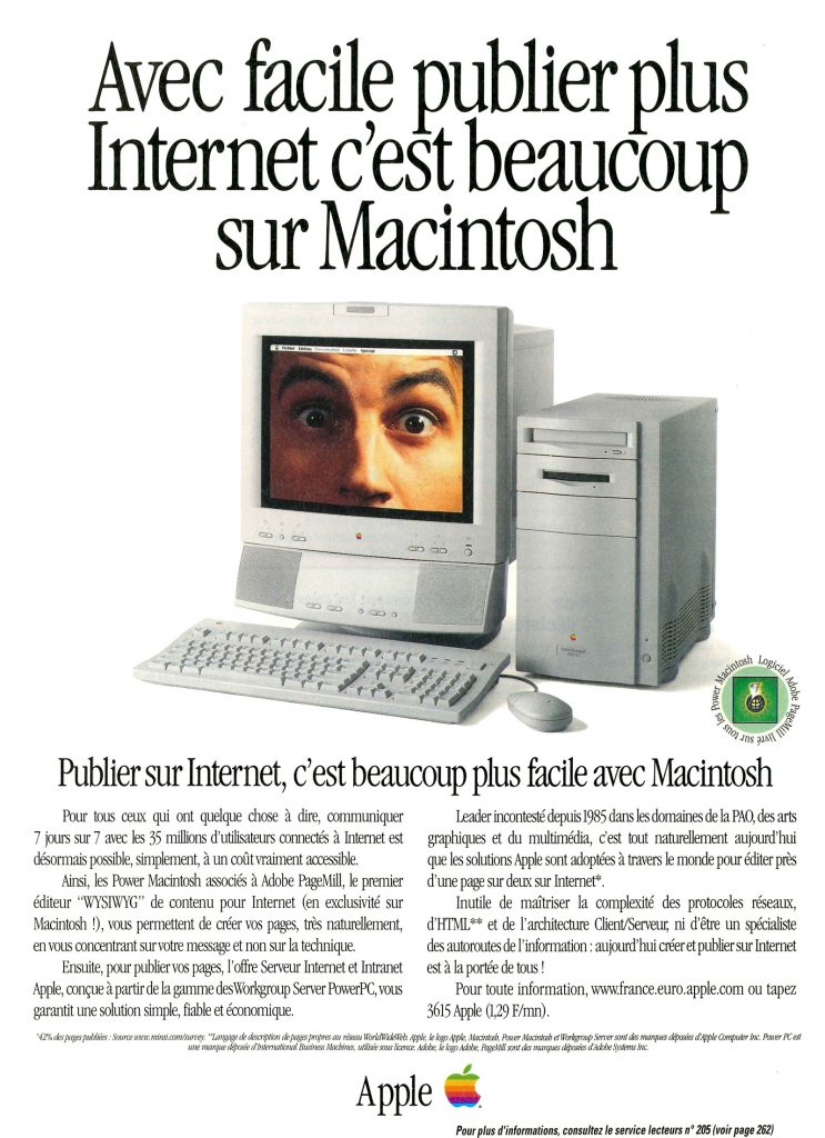 1995 Apple Ad Power Macintosh 8500 Adobe PageMill France