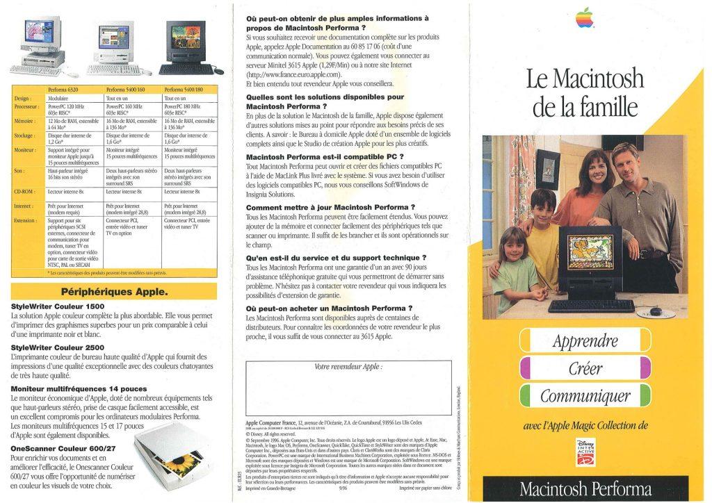 Brochure Apple France 1996 Performa