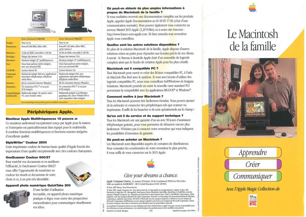 Brochure Apple France 1997 Power Macintosh