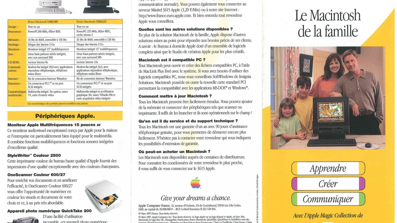 Brochure Apple France 1997 Power Macintosh