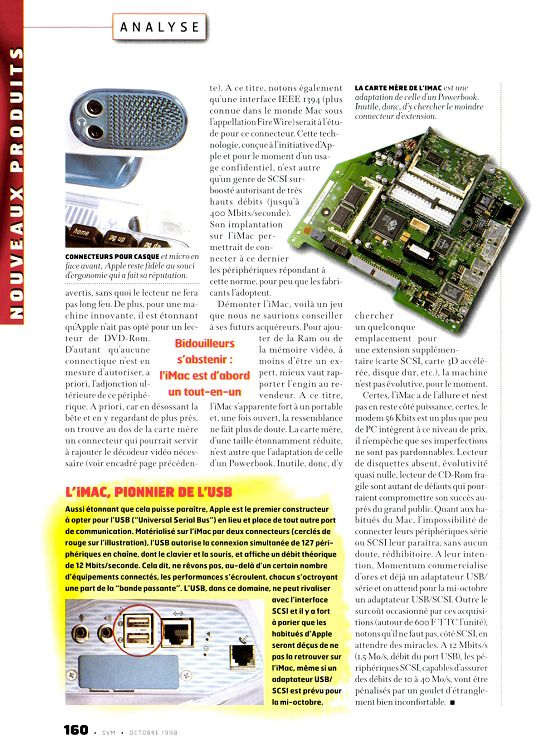 SVM iMac 1998