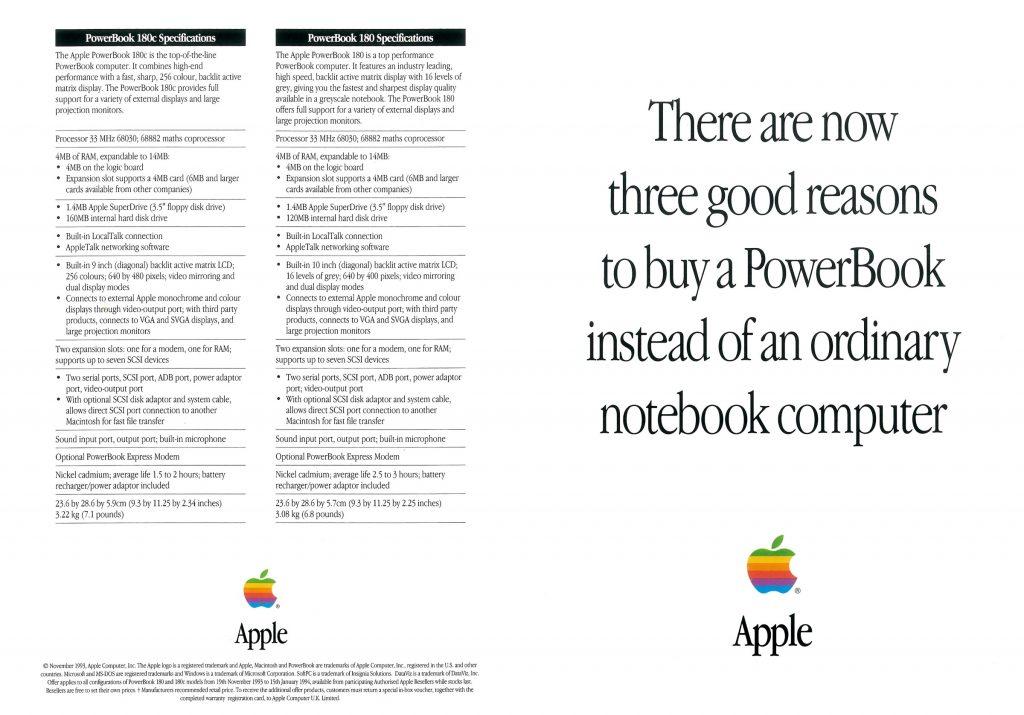 Three good reasons PowerBook