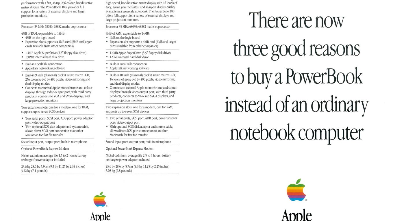 Three good reasons PowerBook