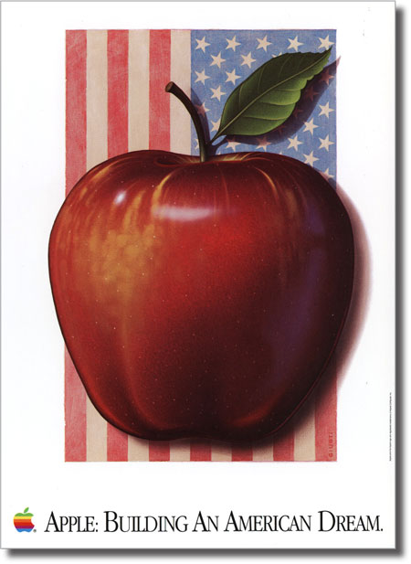 Apple building an american dream poster
