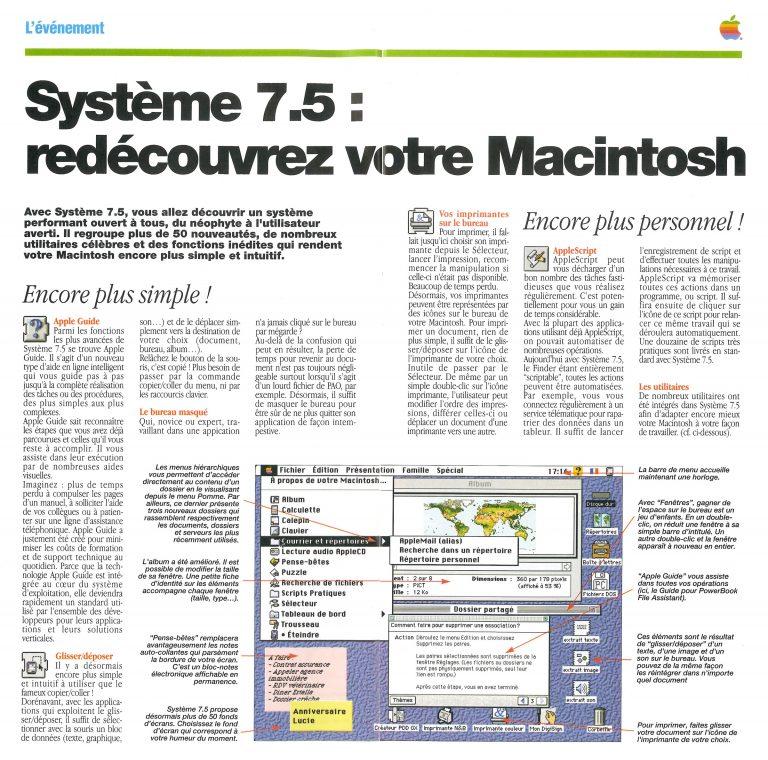 Apple News 1994 Système 7.5