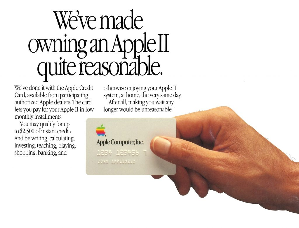 Apple Credit Card 1987