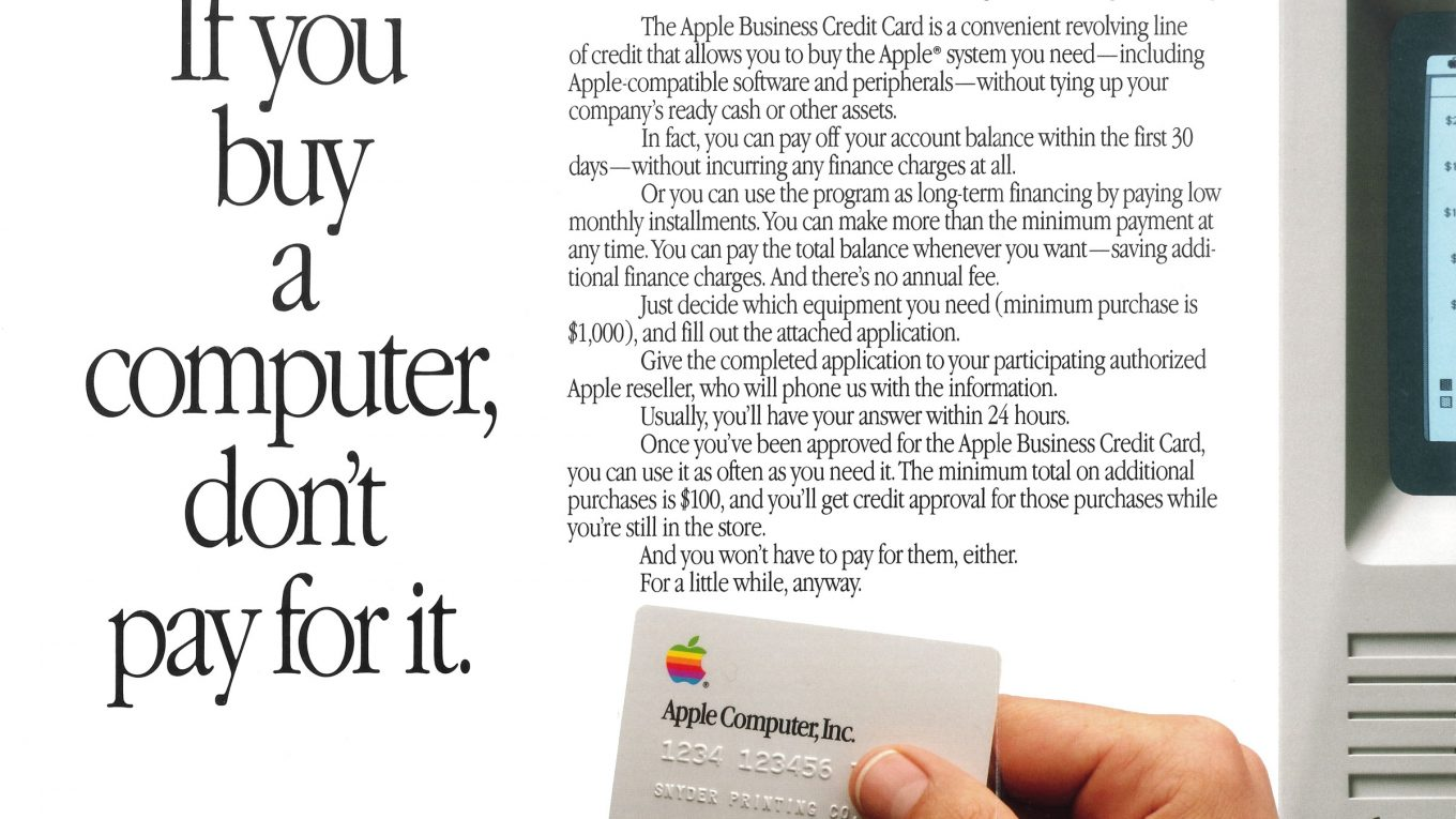 Apple - If you buy a Computer, don't pay for it