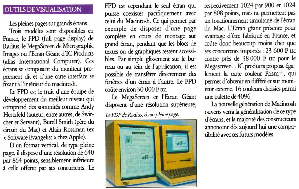 FPD MégaScreen Ecran Géant