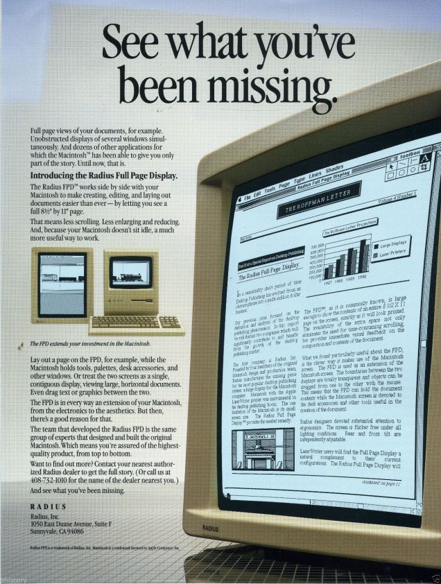 Radius Full Page Display ad