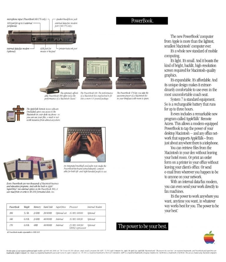 Wozniak PowerBook ad