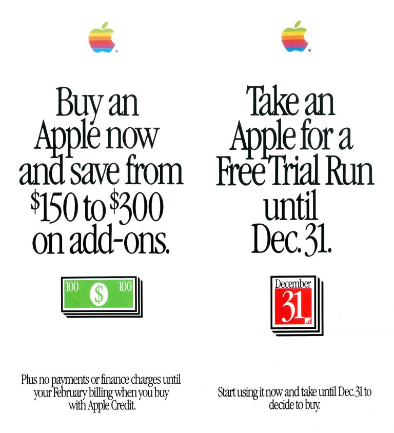 Apple Free Trial Run + save on add-ons