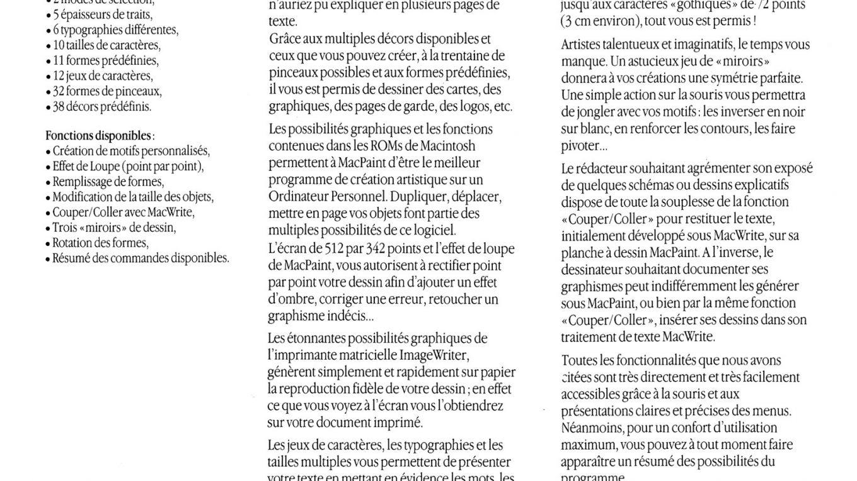 Brochure Apple SEEDRIN MacPaint