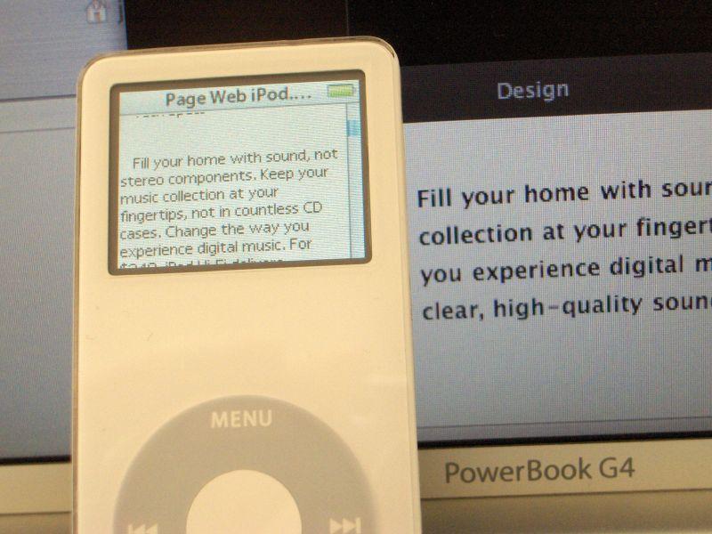 iPod Web Page Automator