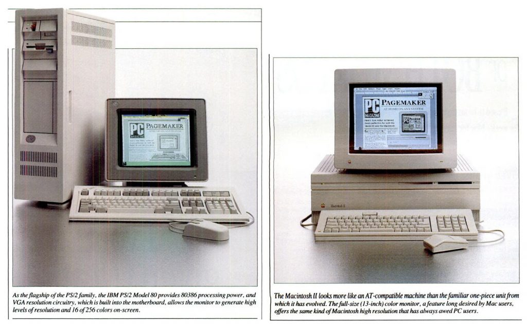 Macintosh II, IBM PS/2