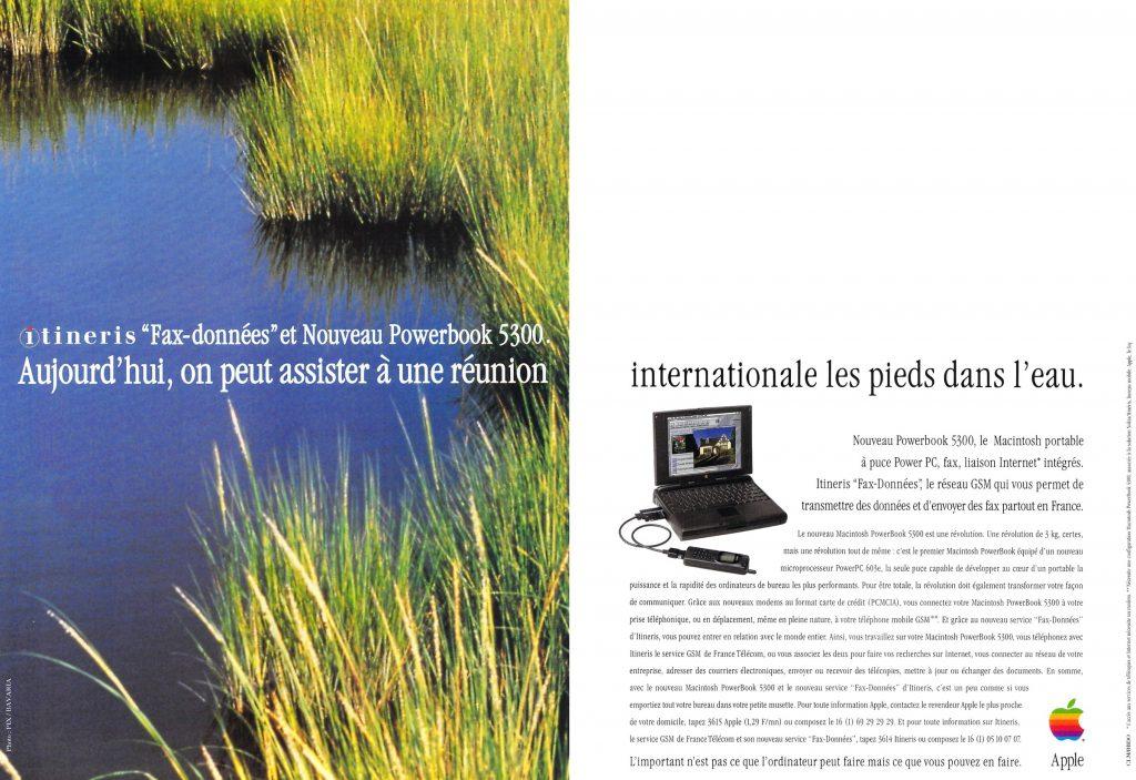 publicité 1996 Apple PowerBook 5300 Itinéris