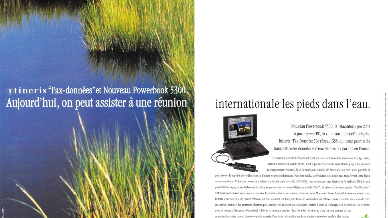 publicité 1996 Apple PowerBook 5300 Itinéris