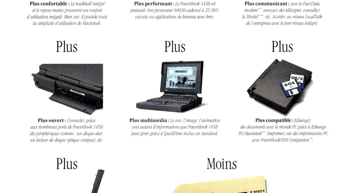 PowerBook 145B publicité